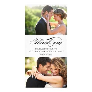 Simply Elegant Wedding Thank You - White Photo Cards