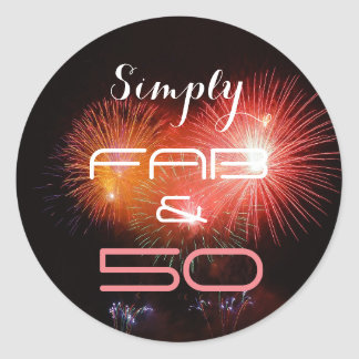 Simply FAB & 50 - Classic Round Sticker