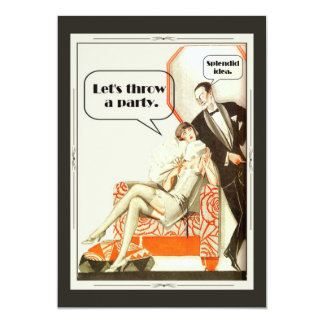 Simply Fabulous Art Deco Party Card
