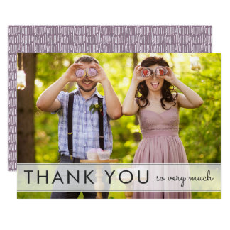 Simply Fun Wedding Thank You Flat Card