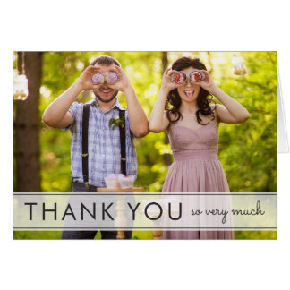 Simply Fun Wedding Thank You Greeting Card