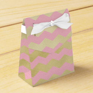 Simply Glam Pink & Gold Chevron Birthday Favor Box