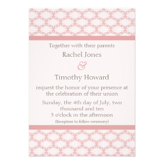 Simply Glamourous Wedding Invite, Light Pink