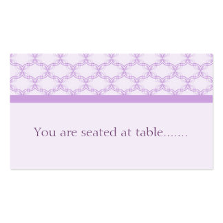 Simply Glamourous Wedding Placecard, Lavender Business Card Templates