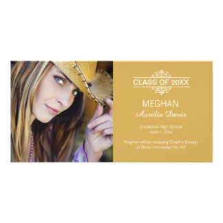 Simply Gorgeous Graduation Announcement Customized Photo Card