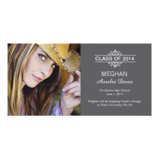 Simply Gorgeous Graduation Announcement Photo Card Template