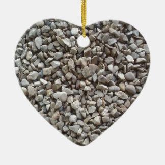 Simply Gravel Ceramic Heart Ornament