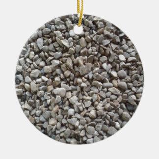 Simply Gravel Round Ceramic Ornament