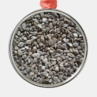 Simply Gravel Silver-Colored Round Ornament
