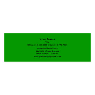 Simply Green Business Card Template