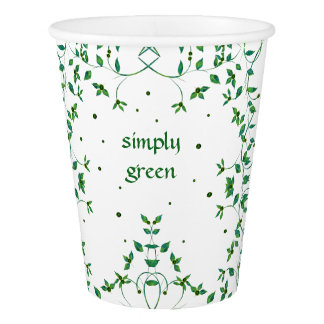 Simply Green Butterfly Paper Cup
