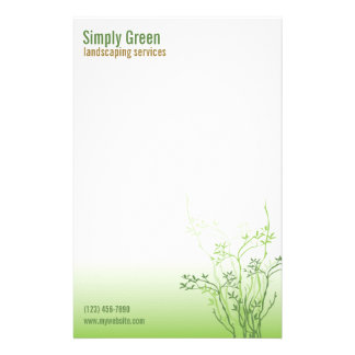 Simply Green Professional Business Stationary Stationery
