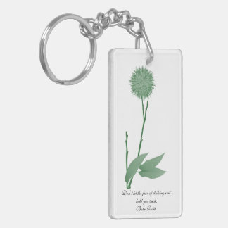 Simply Green  Rectangle Double Sided Keychain