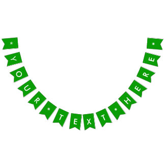 Simply Green Solid Color Customize It Bunting Flags