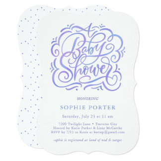 Simply Invited Baby Shower Invitation