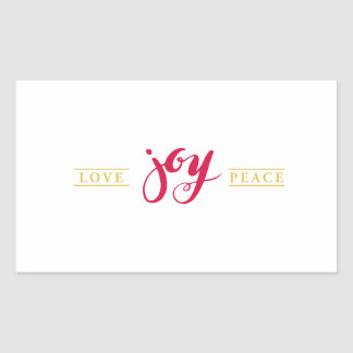 Simply Love Joy Peace Season sticker