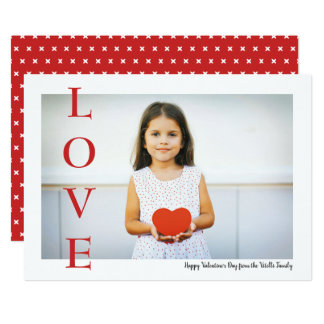 Simply Love Valentine's Day Photo Flat Card