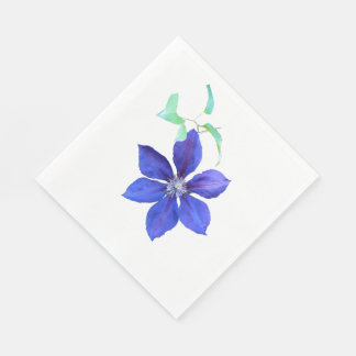 Simply Lovely Purple Clematis Blossom Disposable Napkin