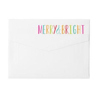 Simply Merry & Bright Wraparound Address Label
