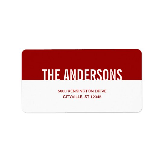 Simply Modern Address Labels