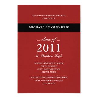 Simply Modern Graduation Party Invitation