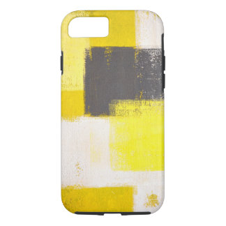 'Simply Modern' Grey and Yellow Abstract Art iPhone 7 Case
