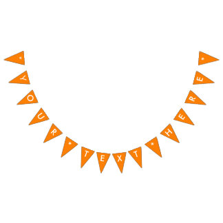 Simply Orange Solid Color Customize It Bunting Flags