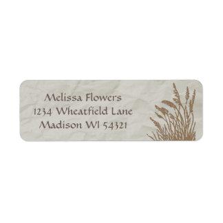 Simply Organic Wheatgrass Custom Personalized Return Address Label