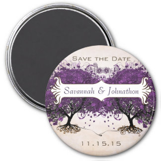 Simply Peachy Heart Tree Save the Date Magnets