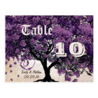 Simply Peachy Purple Heart Leaf Tree Table Number Postcard