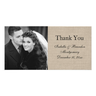 Simply Perfect Burlap Thank You Photo Card