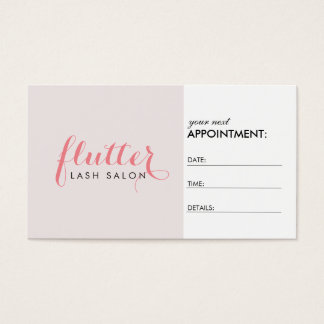 Simply Pink Lash Salon Appointment Card