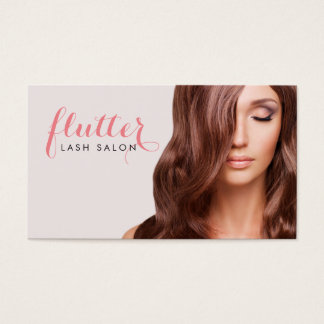 Simply Pink Lash Salon Photo Business Card