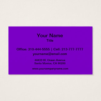 Simply Purple Solid Color Business Card