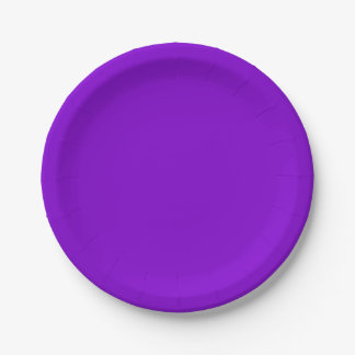 Simply Purple Solid Colour Paper Plate