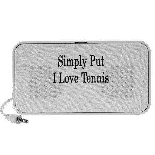 Simply Put I Love Tennis PC Speakers
