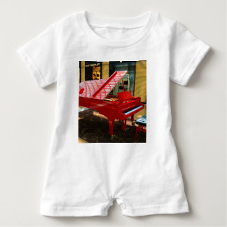 Simply red: grand piano baby romper