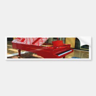 Simply red: grand piano bumper sticker