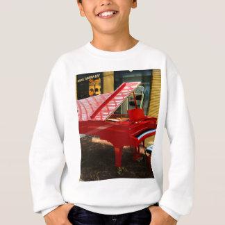 Simply red: grand piano sweatshirt