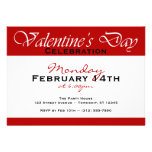 Simply Red Valentine's Day Celebration Invitations