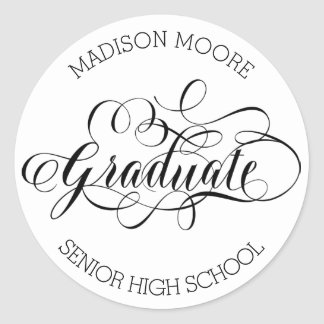 Simply Scripted Custom Graduate Sticker