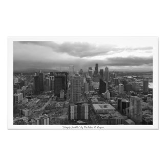 """""""Simply Seattle"""" Black and White Photo Art"""