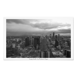 """Simply Seattle"" Black and White Photo Print"