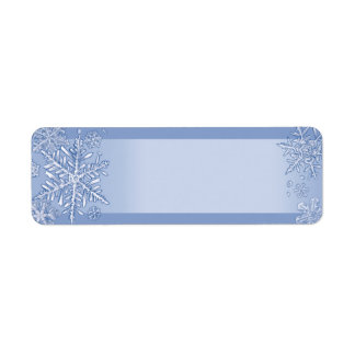 Simply Snowflakes Blank Return Address Labels