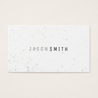 Simply Speckled (black / white) Business Card
