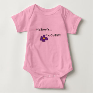 Simply stated Baby One Piece Tee Shirt