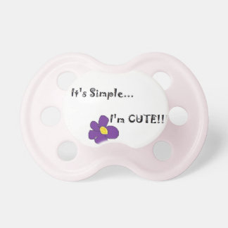 Simply stated baby pacifier. baby pacifiers