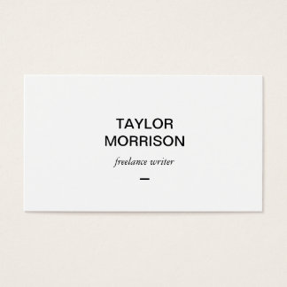 Simply Stated Writer, Author Business Card