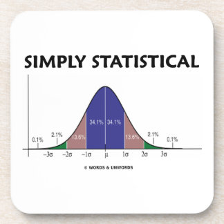 Simply Statistical (Bell Curve Attitude) Beverage Coaster