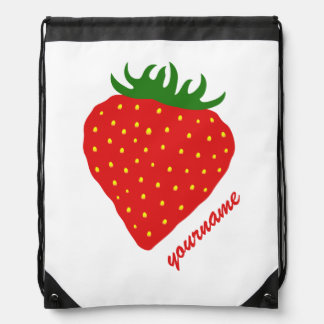 Simply Strawberry custom backpack